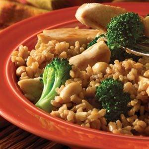 Easy Teriyaki Chicken Brown Rice Dinner Recipe