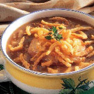 Oniony Mushroom Soup Recipe
