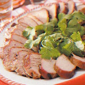 Grilled Cilantro Pork Tenderloin Recipe
