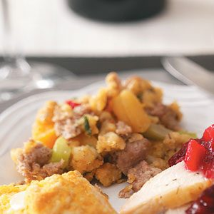 Moist Turkey Sausage Stuffing