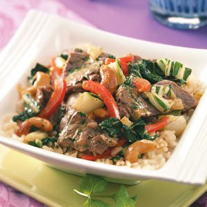 Cashew Curried Beef Recipe