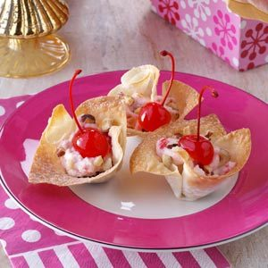 Cherry Cannoli Cups Recipe