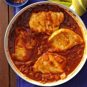 Spicy Tomato Pork Chops