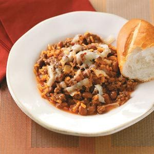 Southwest Beef & Rice Skillet Recipe