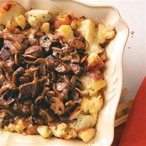 Roast Beef with Chive Roasted Potatoes Recipe
