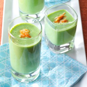 Chilled Pea Soup Shooters Recipe