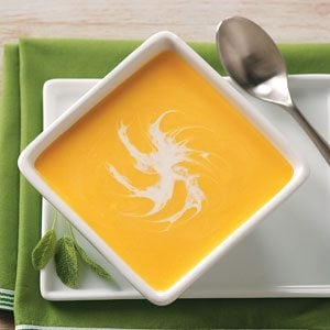Butternut Squash Soup with Cinnamon