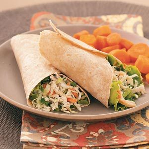 Asian Chicken Salad Wraps Recipe