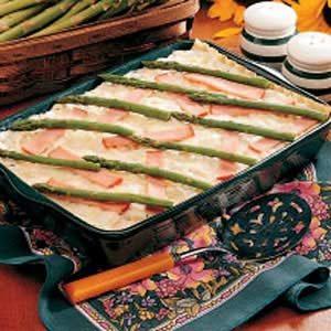 Asparagus Ham Lasagna Recipe