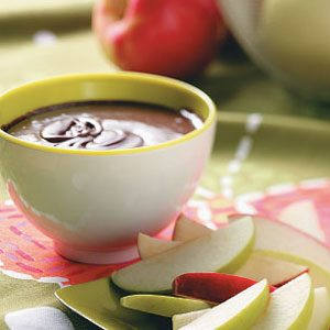 Chocolate Mint Apple Fondue