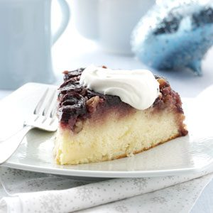 Cherry Pecan Upside-Down Cake