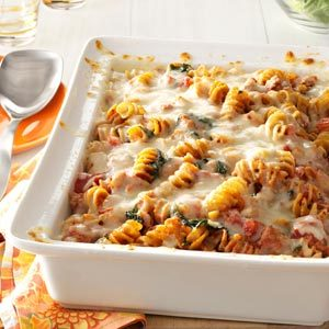 Sausage Spinach Pasta Bake Recipe