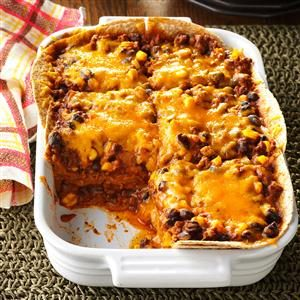 Chili Tortilla Bake Recipe