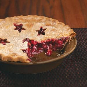 Cranberry-Cherry Nut Pie