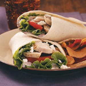Mediterranean Turkey Wraps