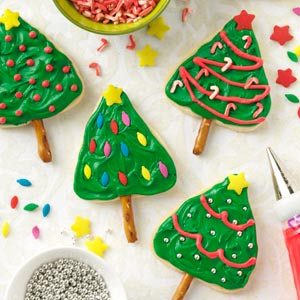 Lemon Shortbread Trees Recipe