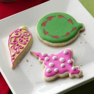 Iced Holiday Ornament Cookies Recipe