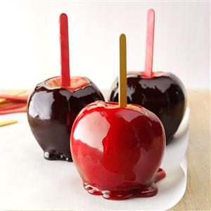 Black-Hearted Candy Apples Recipe