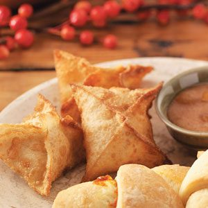 Pretty Pumpkin Wontons Recipe