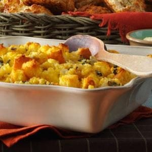 Sage-Roasted Turkey & Corn Bread Stuffing Recipe