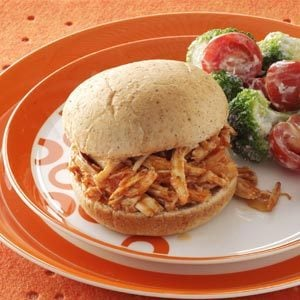 Shredded Barbecued Turkey Breast Sandwiches