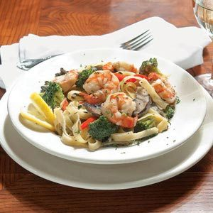 Smoked Shrimp & Wild Mushroom Fettuccine Recipe