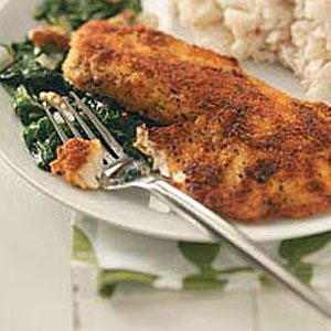 Tilapia with Spinach for Two Recipe