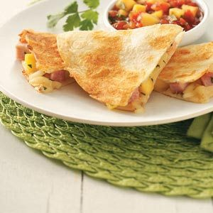 Ham & Mango Quesadillas for Two Recipe