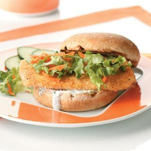 Breaded Fish Sandwiches for Two Recipe