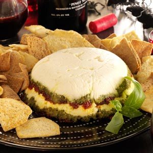 Layered Pesto Cheese Spread