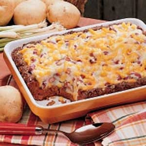 Potato-Topped Chili Loaf Recipe