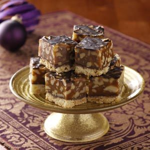 Golden Walnut Caramel Squares Recipe