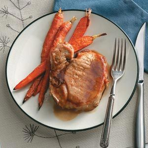 Cider-Glazed Pork Chops with Carrots