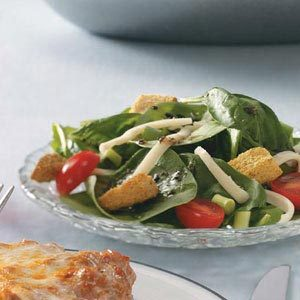 Easy Italian Spinach Salad Recipe