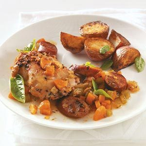 Chicken Thighs with Sausage