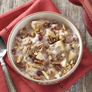 Slow-Cooked Fruited Oatmeal with Nuts