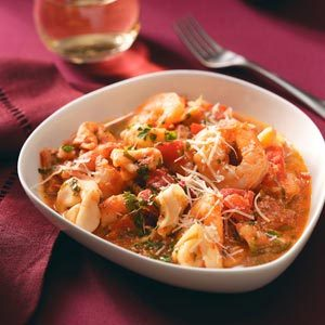Shrimp & Tortellini in Tomato Cream Recipe