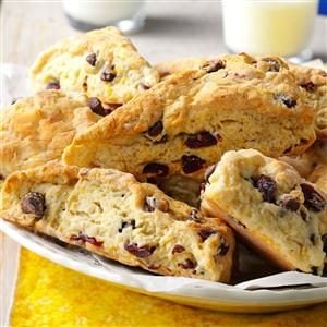 Chocolate Chip-Cranberry Scones Recipe