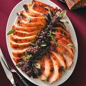 Golden Apricot-Glazed Turkey Breast Recipe