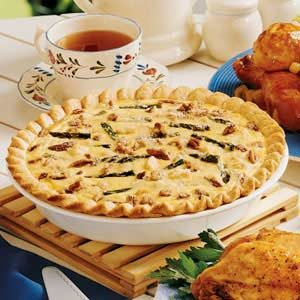 Asparagus-Pecan Quiche Recipe