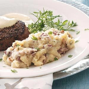 Garlic, Bacon & Stilton Mashed Potatoes