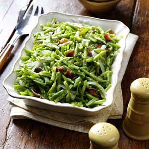 Bacon and Garlic Green Beans Recipe
