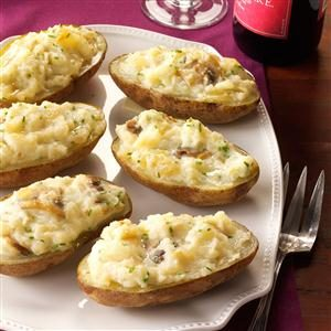 Sherried Mushroom Baked Potatoes Recipe