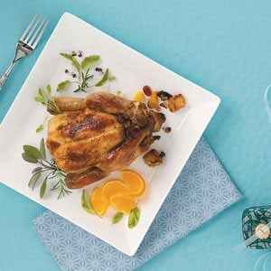 Festive Stuffed Cornish Game Hens Recipe