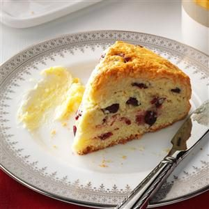 Cranberry Scones with Orange Butter Recipe