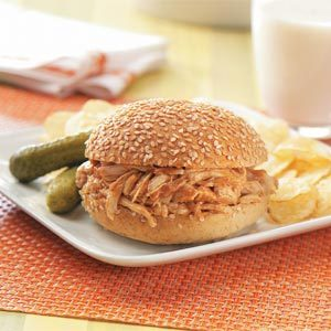 Barbecued Chicken Sandwiches