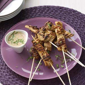 Skewered Chicken with Peanut Sauce Recipe