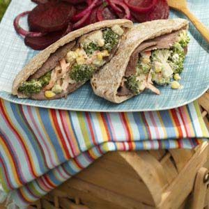 Roast Beef Garden Pitas Recipe