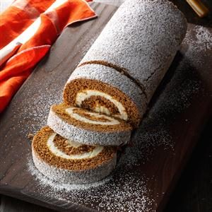 Peachy Gingerbread Cake Roll Recipe