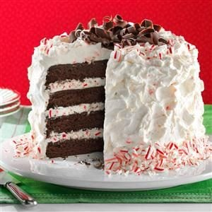 Fudgy Peppermint Stick Torte